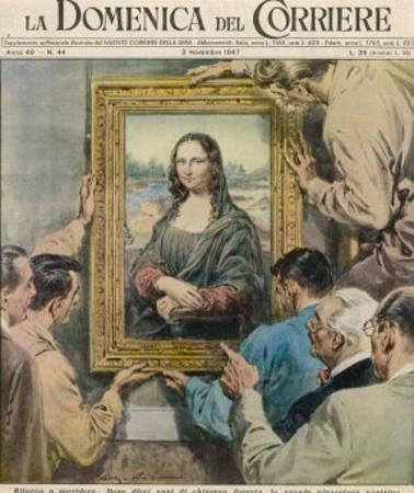 During World War Two Mona Lisa is Removed for Safe-Keeping from the Hands of Goering and His Mates