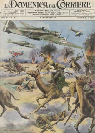 East Africa: Low Level Attack on Allied Forces Including Camel-mounted Cavalry by Italian Planes