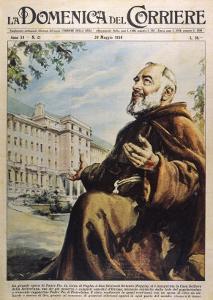 """Francesco Forgione Name in Religion Pio de Pietrelcina Known as """"Padre Pio"""" Capucin Friar by Walter Molini"""