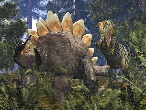 Jurassic Dinosaurs, Artwork by Walter Myers