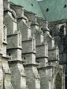 Buttresses on the South Front of the Cathedral, Chartres, France by Walter Rawlings