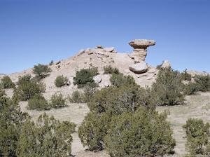 Camel Rock, Near Santa Fe, New Mexico, USA by Walter Rawlings