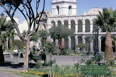 Plaza De Armas, Main Square, Arequipa, Unesco World Heritage Site, Peru, South America