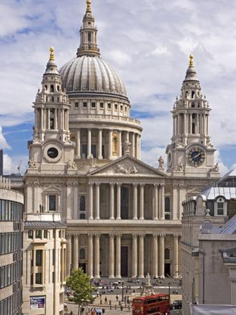 St. Paul's Cathedral Designed by Sir Christopher Wren, London, England, United Kingdom, Europe by Walter Rawlings