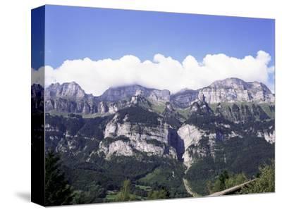 The Churfirsten Range, Near Wallenstadt and Wallensee, Swiss Alps, Switzerland