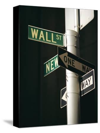 Wall Street Sign, New York City, New York State, USA