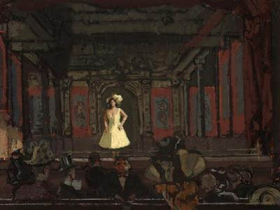 Gatti'S Hungerford Palace of Varieties. Second Turn of Katie Lawrence C.1888 by Walter Richard Sickert