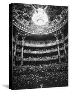 Auditorium of the Paris Opera House by Walter Sanders