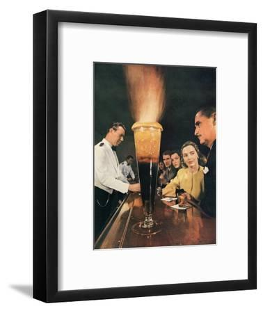 Bartender Tending Bar in the Zebra Room of the Town House, Los Angeles, California, 1946