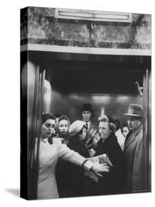 Elevator in a Madison Avenue High Rise Office Building by Walter Sanders