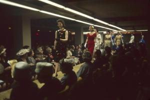 Fashion Models Show Off Designs to Buyers and Press at the 500 Club, New York, New York, 1960 by Walter Sanders