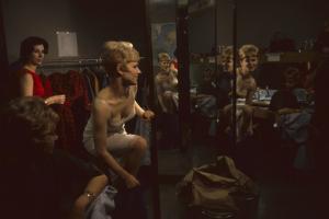 Model Linda Olszewski Changes During an R&K Originals Inc Fashion Show, New York, New York, 1960 by Walter Sanders