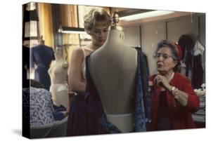 Senior Fashion Designer Pauline Fraccia (Right), of R&K Originals, New York, New York, 1960 by Walter Sanders
