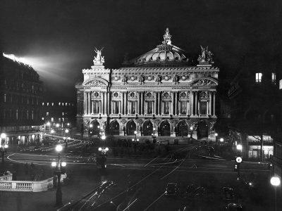 The Paris Opera House at Night