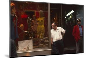 Two Men Outside Goldsmith and Sons Display Equipment, New York, New York, 1960 by Walter Sanders