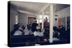 View of Churchgoers as They Listen to a Service, on Edisto Island, South Carolina, 1956 by Walter Sanders