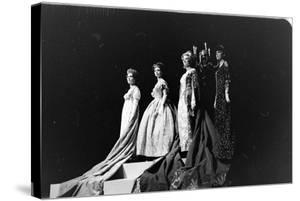 Women Modeling Evening Gowns at the Met Fashion Ball, New York, New York, November 1960 by Walter Sanders