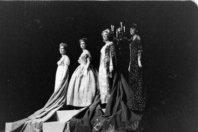 Women Modeling Evening Gowns at the Met Fashion Ball, New York, New York, November 1960