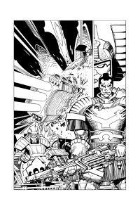 Star Slammers No. 2 Cover - Inks by Walter Simonson