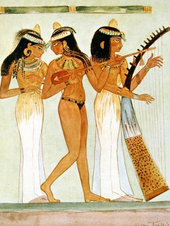 Ancient Egyptian Musicians and a Dancer, 1910