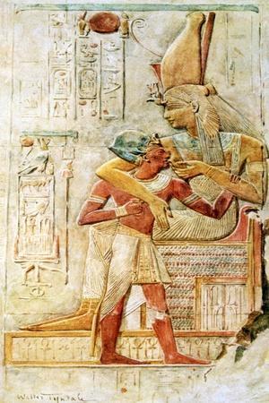 Egyptian Hieroglyphs, Abydos, Egypt, 1910
