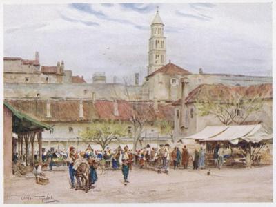 Market Day in Split (Now in Croatia) on the Dalmatian Coast by Walter Tyndale