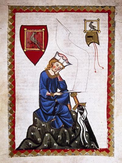 Walther Von Der Vogelweide (1170-1230). Codex Manesse (Ca.1300)--Giclee Print