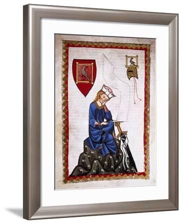 Walther Von Der Vogelweide (1170-1230). Codex Manesse (Ca.1300)--Framed Giclee Print