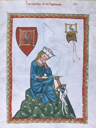 Walther Von Der Vogelweide-Heidelberger Lieder-Handschrift-Giclee Print
