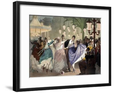 Waltz at the Bal Mabille by Philippe Jacques Linder--Framed Giclee Print