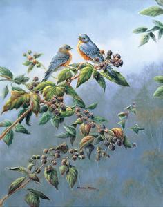Bluebirds by Wanda Mumm