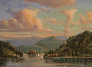 Sailing On Lake Orta by Wanda Mumm