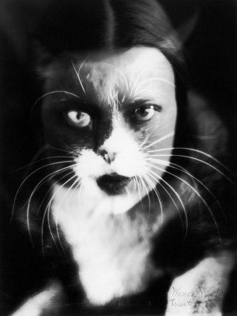 Me and Cat', Two Superimposed Photos of Wanda Wulz and of Her Cat