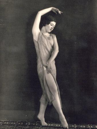 Young Ballet Dancer Portrayed While Dancing