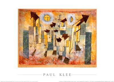 Wandbild aus dem Tempel der Sehnsucht Dorthin-Paul Klee-Art Print
