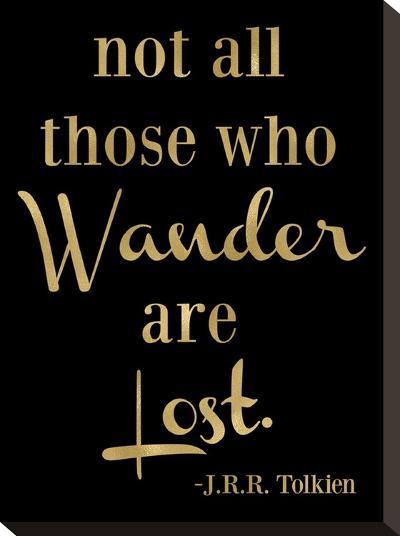 Wander Lost Golden Black-Amy Brinkman-Stretched Canvas Print