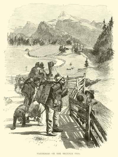 Wanderers on the Brenner Pass--Giclee Print