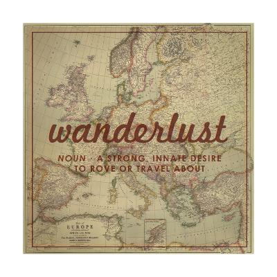 Wanderlust - 1915 Europe Map with Africa and Asia Map-National Geographic Maps-Giclee Print