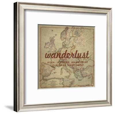 Wanderlust - 1915 Europe Map with Africa and Asia Map-National Geographic Maps-Framed Giclee Print
