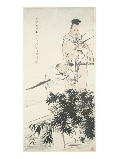 Wang Xizhi observes Geese-Ren Bonian-Art Print