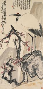 Crane and Plum Blossoms by Wang Zhen