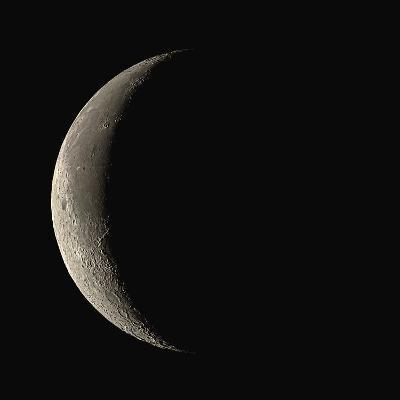 Waning Crescent Moon-Eckhard Slawik-Photographic Print