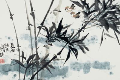 Birds in Winter Morning by Wanqi Zhang