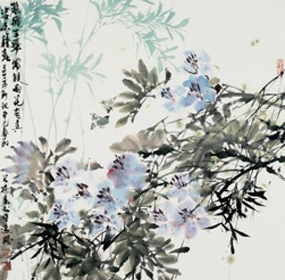 Blossoms and Bamboo by Wanqi Zhang