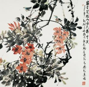 Blossoms in the Spring (II) by Wanqi Zhang