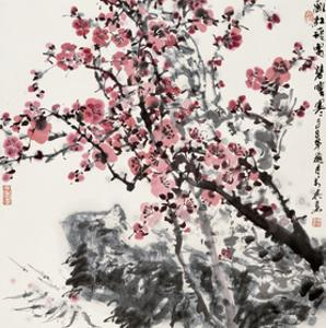 Plum Blossoms by Wanqi Zhang