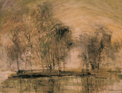 Willows in Morning Wind by Wanqi Zhang
