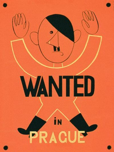 Wanted in Prague', 2nd World War Poster--Giclee Print