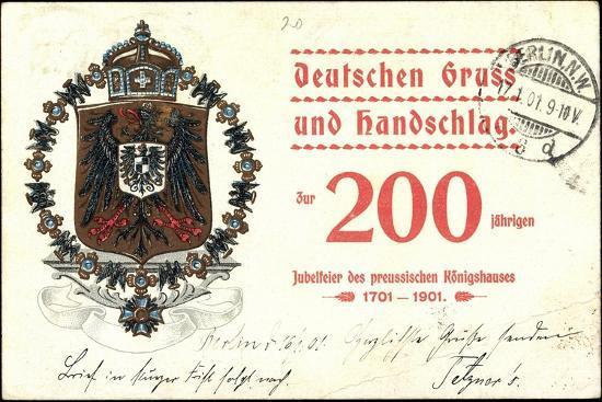 Wappen Deutscher Gruß, Preußisches Königshaus, 200J--Giclee Print