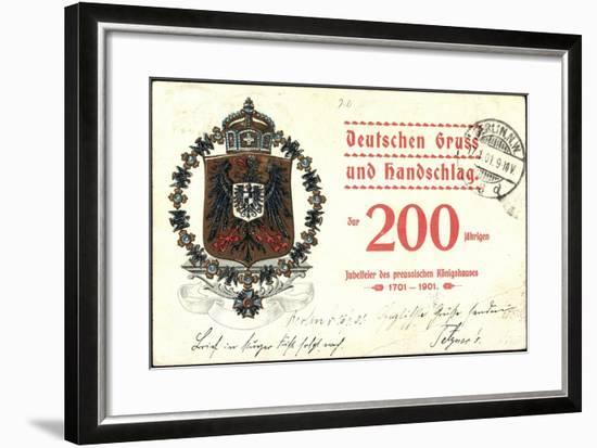 Wappen Deutscher Gruß, Preußisches Königshaus, 200J--Framed Giclee Print